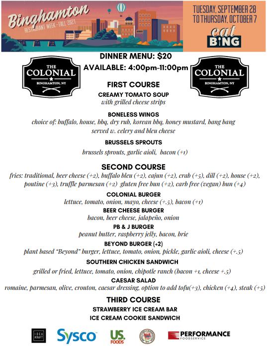 colonial_dinner_2 Restaurant Week Menus