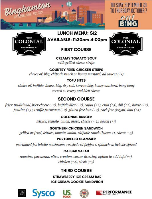colonial_lunch_2 Restaurant Week Menus