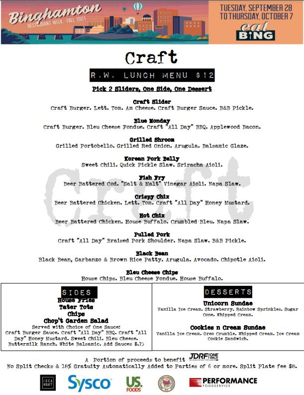 craft_l Restaurant Week Menus