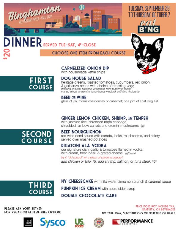 lost_dog_dinner Restaurant Week Menus
