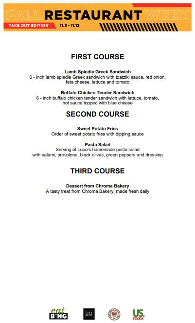 lupos_fall_2020 Restaurant Week Menus