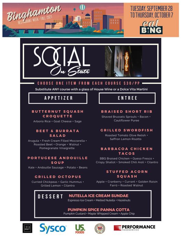 social_menu Restaurant Week Menus