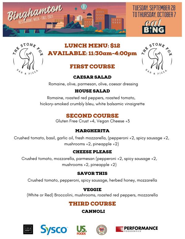 stone_fox_lunch Restaurant Week Menus