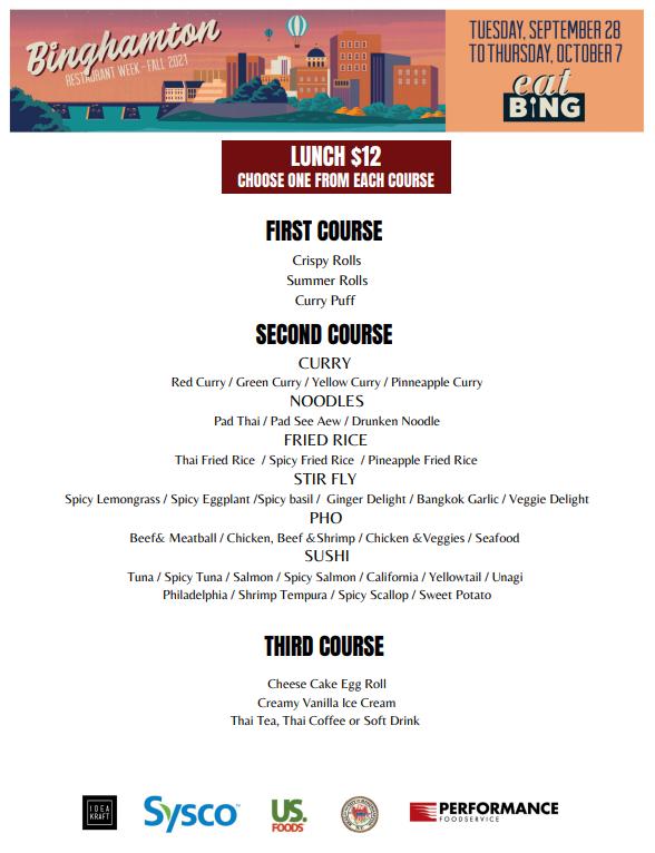 thai_l Restaurant Week Menus